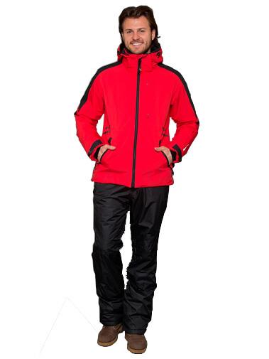Прокат мужской горнолыжной куртки Snow headquarter XXL красно-чёрная