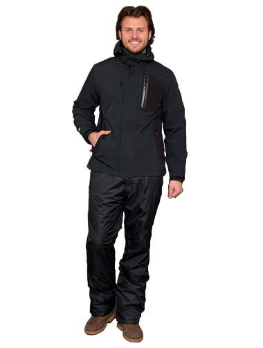 Прокат мужской горнолыжной куртки L чёрная